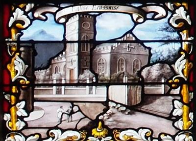 Ivry Vitrail Pere Laval Eglise Ecossaise