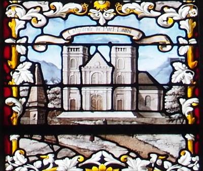Ivry Vitrail Pere Laval Eglise Port Louis